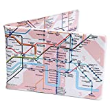 Crafted Lines Travel Oyster Card Wallet - London Tube Map Pink
