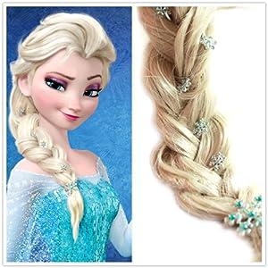 Amazon.com: Frozen Princess Snow Queen Elsa Hair pins Set (1 Hair Clip