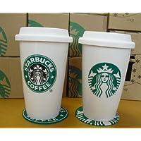 ★海外限定品Starbucksスターバックス★セラミック製タンブラー 2011&1992 2個セット★2011&1992コースター付★