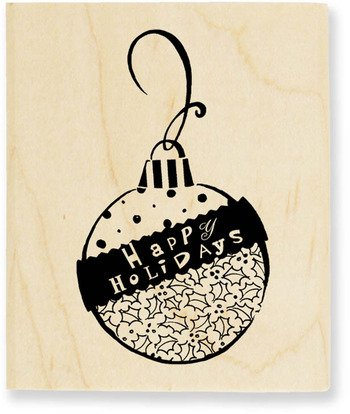 Montage Ornament Wood Mounted Rubber Stamp (V097)