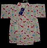 お子様甚平綿リップル金魚白地9095サイズ女の子用日本製(95サイズ)