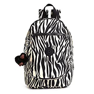 Kipling Challenger Medium Backpack (One Size, Black Zebra)