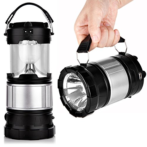 APPHOME-Portable-Outdoor-LED-Camping-Lantern-Solar-Lamp-Lights-Handheld-Flashlights-with-Rechargeable-Battery-for-Backpacking-Hiking-Fishing-Emergencies-OutagesBlackCollapsible