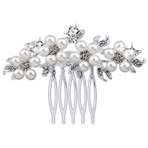 Pettine per capelli con perle Cristallo per le donne sposa Tiara capelli decorazione