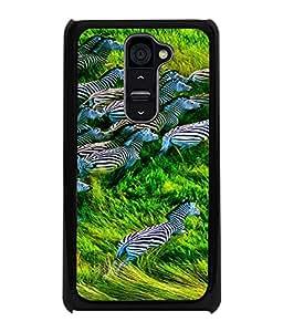 Printvisa Zebras Natures Beautiful Creation Back Case Cover for LG G2::LG G2 D800 D980
