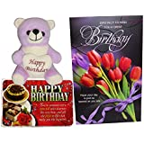 Birthday Gifts For Girls - Birthday Greeting Card, Birthday Soft Teddy And Birthday Quotations