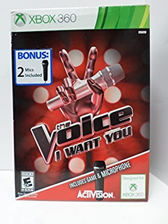 XBOX 360 The Voice I Want You Bundle with 2 Microphones