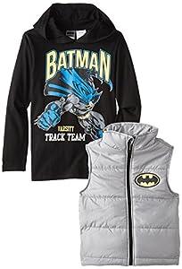 DC Comics Little Boys' Batman Vest and Hoodie Set at Gotham City Store