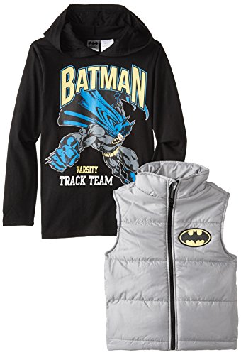 DC Comics Little Boys' Batman Vest and Hoodie Set at Gotham City Store