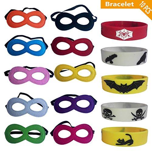 10 PCS Masks,Superhero Masks,Eye Masks,Cosplay Mask,Party Supplies,Party Favors