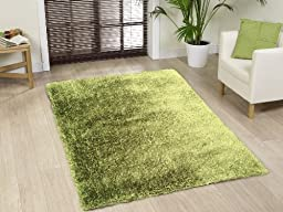 ON SALE! Shaggy Viscose Solid Collection, Hunter Green Solid Area Rug, Hand Tufted, Approximate Size ~5ft x 7ft (152 x 214cm), ON SALE!