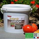 Agro Sens - Engrais biologique potager concentré tous légumes. 4 kg. NPK 7-6-8