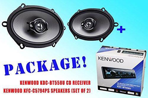 Package ! Kenwood Kdc-Bt558U Cd-Receiver + Kenwood Kfc-C5794Ps Car Speakers