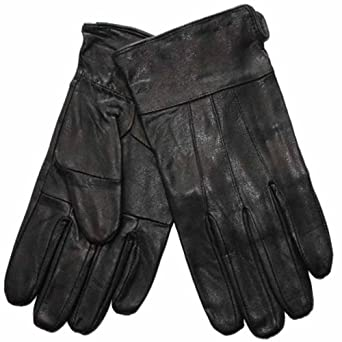 New Mens Thermal Lined Soft Leather Warm Winter Dress Gloves L/XL Black