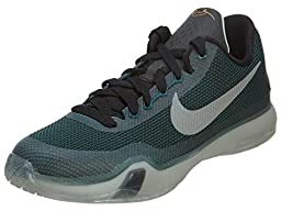 Nike Youth Boys Kobe X GS Independence Day 10 Basketball Shoes-Teal/Silver/Blk-5