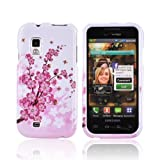 Pink Flowers on White Samsung Fascinate i500 Plastic Case Cover [Anti Slip] Supports Premium High Definition Anti-Scratch Screen Protector; Durable Fashion Snap on Hard Case; Coolest Ultra Slim Case Cover for Fascinate i500 Supports Samsung i500 Devices From Verizon, AT&T, Sprint, and T-Mobile ~ KarenDeals