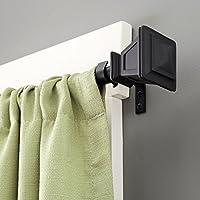 Kenney Seville Window Curtain Rod, 90 to 130-Inch, Matte Black