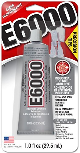 Eclectic 231020 2 Pack E6000 Adhesive with Precision Tips, 1-Ounce