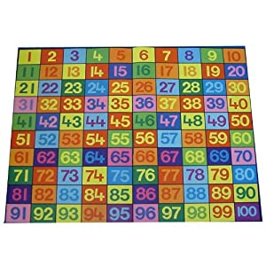 Giant 1-100 Numbers Play Carpet - Numbers Can Be Fun & It'S A Great Floor Covering!
