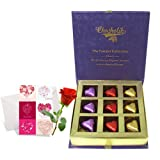 Biggest Love Treat Of Wrapped Chocolates With Love Card And Rose - Chocholik Luxury Chocolates