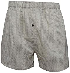 Shy Guy Pleasure Wear Men's Cotton Boxer Shorts (White)