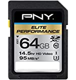PNY Elite Performance 64 GB High Speed SDXC Class 10 UHS-I, U3 up to 95 MB/Sec Flash Card (P-SDX64U395-GE)