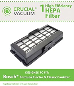 1 Bosch Formula Series Cleaners HEPA Vacuum Cleaner Filter for Formula Series Cleaners, Part # BBZ152HFUC, Designed and Engineered by Crucial Vacuum