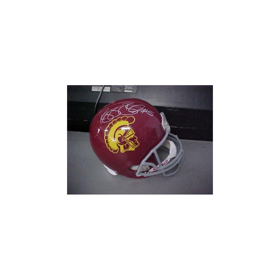 Reggie Bush Hand Signed Autographed USC Full Size Riddell Football Helmet