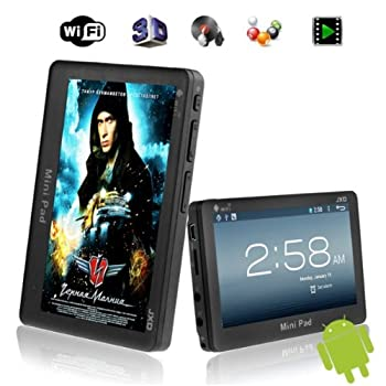 4.3-Inch JXD S18 4GB Mini Pad 1.2GHz Android 4.1 Game Tablet PC With WiFi G-sensor For Kids Or Children- Jet-black