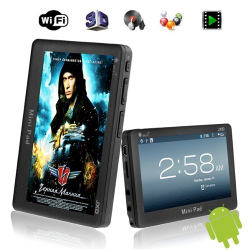 4.3″ 4GB JXD S18 Mini Pad 1.0GHz Android 4.0 Tablet PC 4.3inch DDR3 512MB MID with WiFi G-sensor – Black