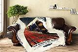 England - Queen of Scots Pullman Train British Railways - Vintage Travel Poster (60x80 Woven Chenille Yarn Blanket)