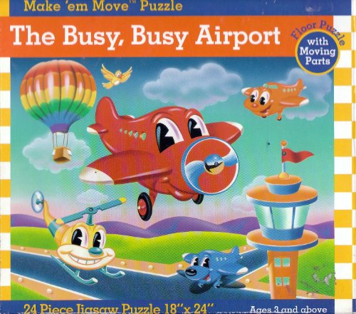 Cheap Great American The Busy, Busy Airport Floor Puzzle with Moving Parts (Make 'em Move Puzzle) (B003WGO1TU)