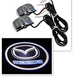 Mazda New 2pcs Car Laser LED Light Welcome Light Door Shadow for Mazda (No Drill Type Design)