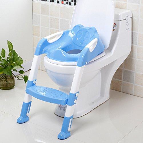 Toilettes toilettes anneau bébé toilette échelle pour grands enfants escamotable pot , blue