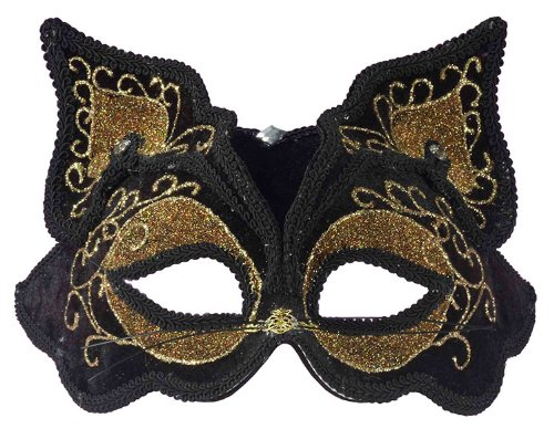 Forum Fancy Cat Style Venetian 1/2 Mask