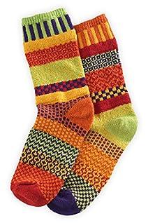 Solmate Daffodil Mismatched USA made Socks