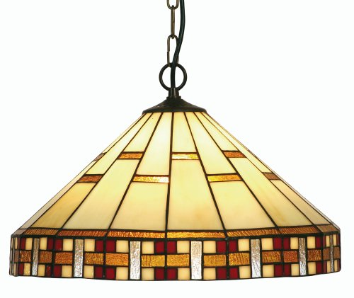 Oaks Lighting Aremisia Tiffany Pendant, 16-inch