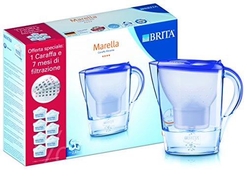 Brita Marella Lavender Kit con 7 Filtri Inclusi, Plastica, Lavender Purple, 24 x 10 x 26 cm