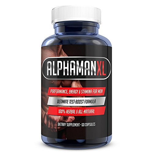 AlphaMAN XL Male Sexual Enhancement Pills | 2+ Inches in 60 days - Testosterone Booster Increases Energy, Mood & Stamina | Best Performance Supplement for Men - 1 Month Supply
