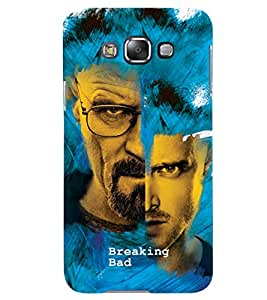 ColourCrust Samsung Galaxy E7 Mobile Phone Back Cover With Breaking Bad - Durable Matte Finish Hard Plastic Slim Case