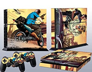 Ps4 Skins Grand Theft Auto V Gta 5 Decal Cover for Sony Ps 4 Console and Playstation 4 Controllers