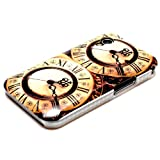 DeinPhone Retro Clock Case Cover Bumper for Samsung Galaxy Ace 1 S5830i