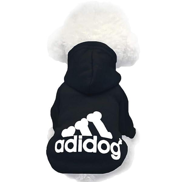Moolecole Pet Sports Apparel Cat & Dog Cold Weather Coats Dog Hoodies Pet Sweaters (XXL, Black) (Color: Black, Tamaño: 2XL(Chest20.1,13-19 lb))