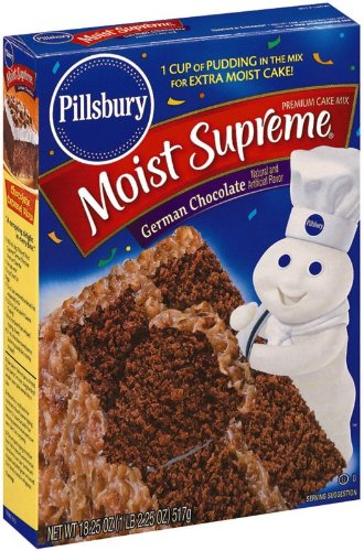 Pillsbury Cake Mix German Chocolate, 18.25-Ounce Boxes (Pack of 6) at Amazon.com