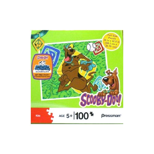 Scooby-Doo Playing Baseball 100 Piece Puzzle - 1