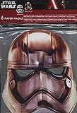 Acquista Procos 86226 - Mascherine Carta Star Wars Stormtrooper, 6 Pezzi, Bianco/Grigio