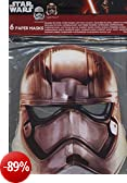 Procos 86226 - Mascherine Carta Star Wars Stormtrooper, 6 Pezzi, Bianco/Grigio