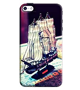 Blue Throat Paper Boat Inspired Hard Plastic Printed Back Cover/Case For Apple iPhone 4s
