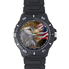 buy Fathers/Boyfriends Gifts Smart American Eagle Black Plastic High Quality Watch