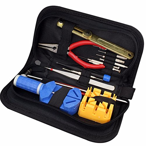 [Franterd Kit Opener Link Remover Carrying Case Watch Repair Tool] (Link Deluxe Adult Kit)